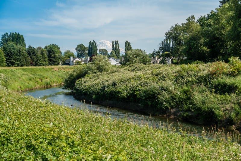 Case sul Green River 2 immagini stock libere da diritti