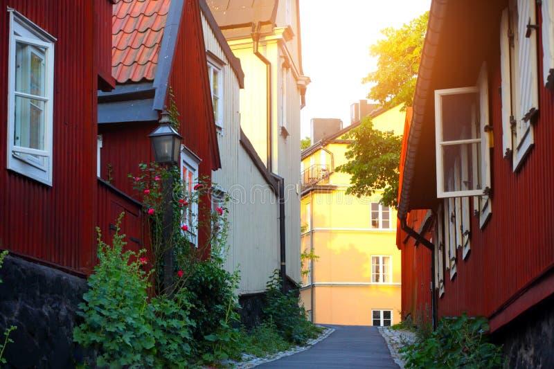 Case svedesi vecchie tradizionali immagine stock for Case tradizionali