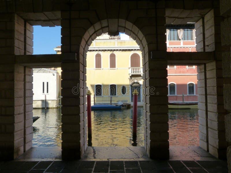 Case tipiche della laguna veneziana di Chioggia - l'Italia fotografia stock