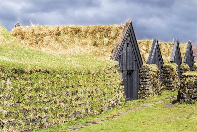 Case tipiche Islanda immagini stock