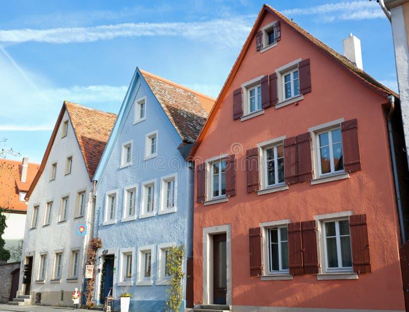 Case tipiche nel der Tauber del ob di Rothenburg fotografie stock