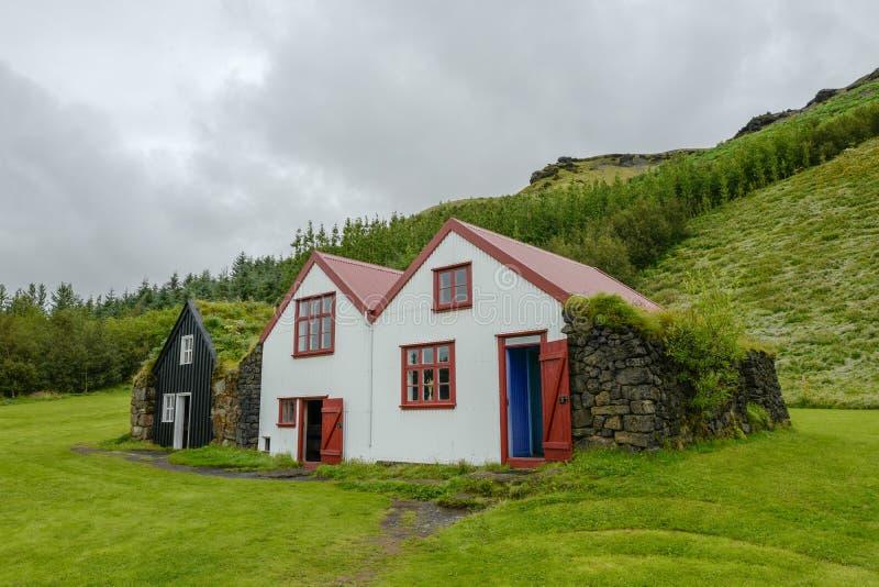 Case tradizionali in Islanda immagine stock