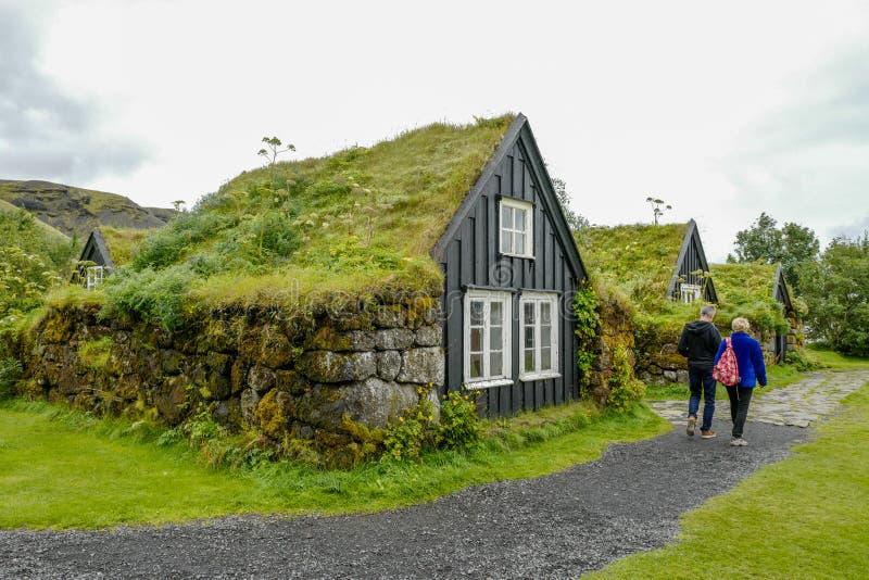 Case tradizionali in Islanda fotografie stock