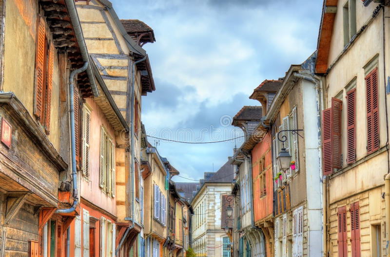 Case tradizionali a Troyes, Francia immagine stock
