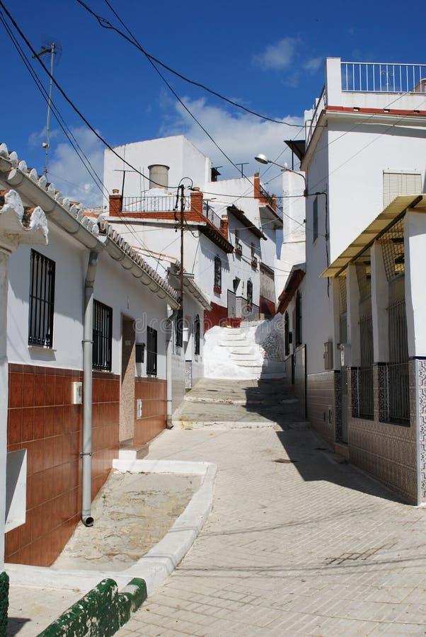 Case urbane, Velez Malaga, Spagna. immagine stock
