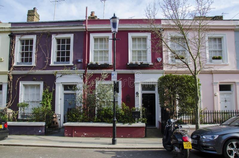 Case di Notting Hill fotografie stock