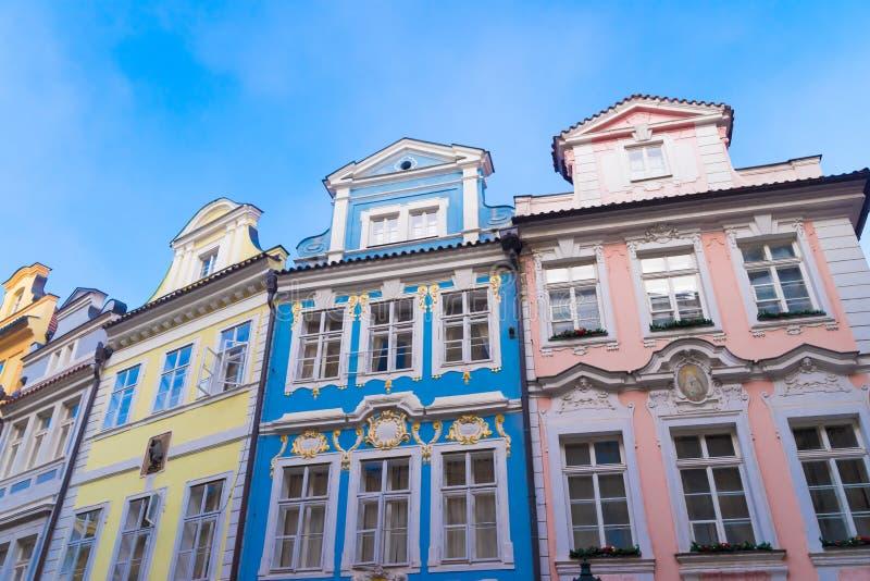 Case variopinte a Praga immagini stock libere da diritti