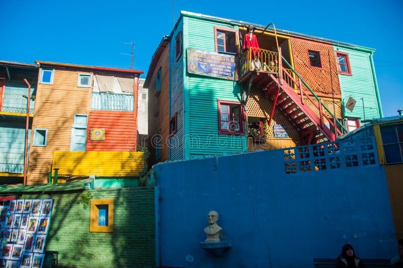 Case variopinte vicinanza, Buenos Aires, Argentina di Boca della La fotografia stock