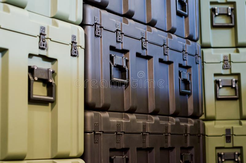 Case in warehouse royalty free stock images