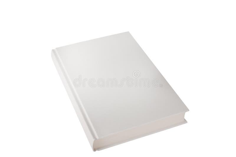 Casebound dans le blanc de vue de côté de livre de tissu sur un fond blanc images stock