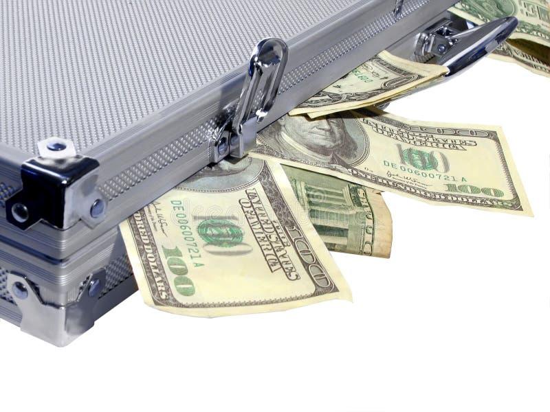 caseful pengar arkivfoto