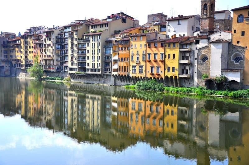 Caseggiati di Firenze nel centro urbano, Italia   fotografia stock