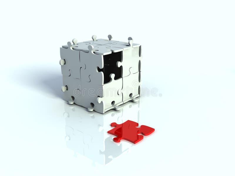 Casella 3d di puzzle fotografia stock libera da diritti