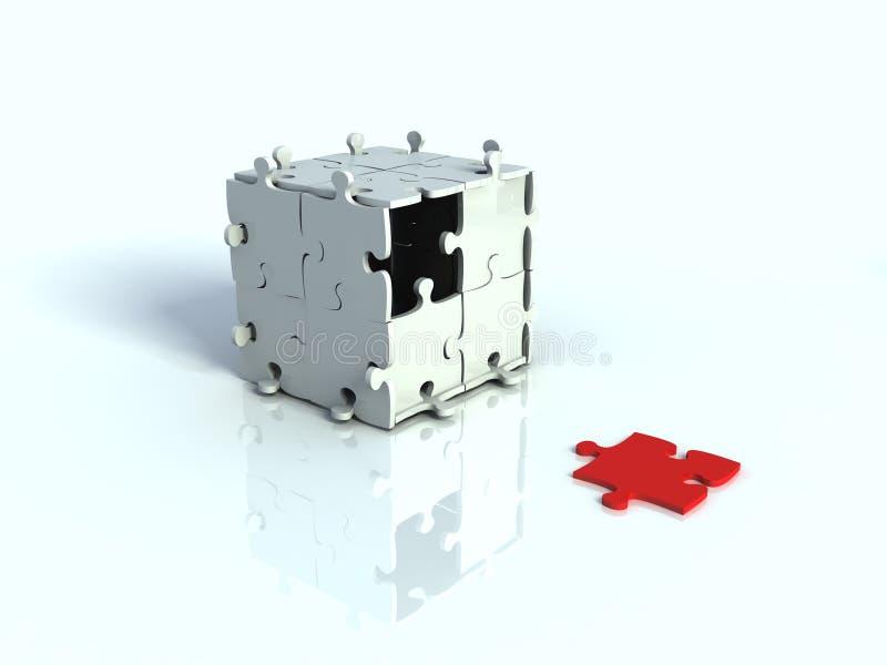 Casella 3d di puzzle immagine stock libera da diritti