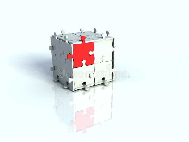 Casella 3d di puzzle illustrazione vettoriale