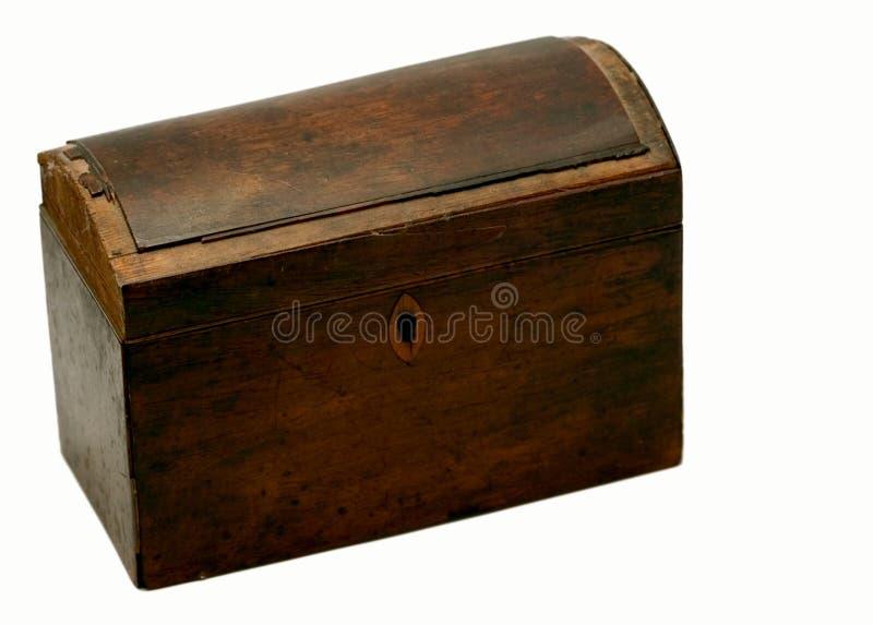 Casella antica - chiusa immagine stock