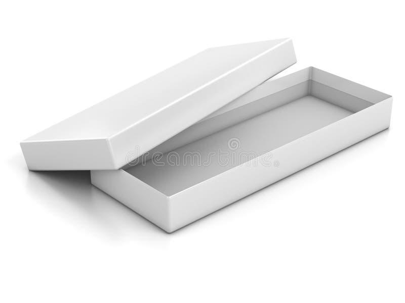 Casella aperta poco profonda in bianco bianca isolata royalty illustrazione gratis