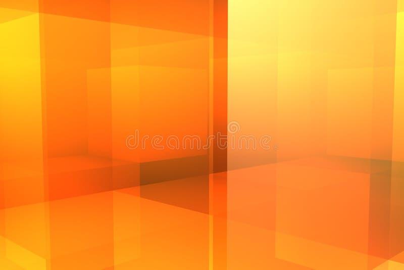 Casella arancione immagini stock