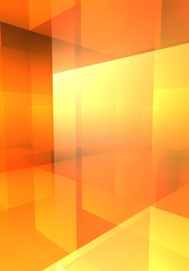 Casella arancione di contrasto immagine stock