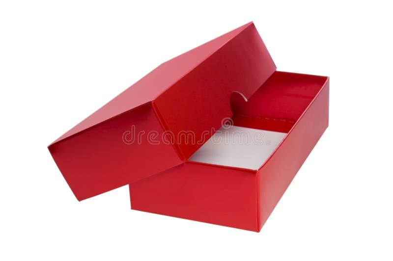 Casella attuale aperta di colore rosso fotografia stock libera da diritti