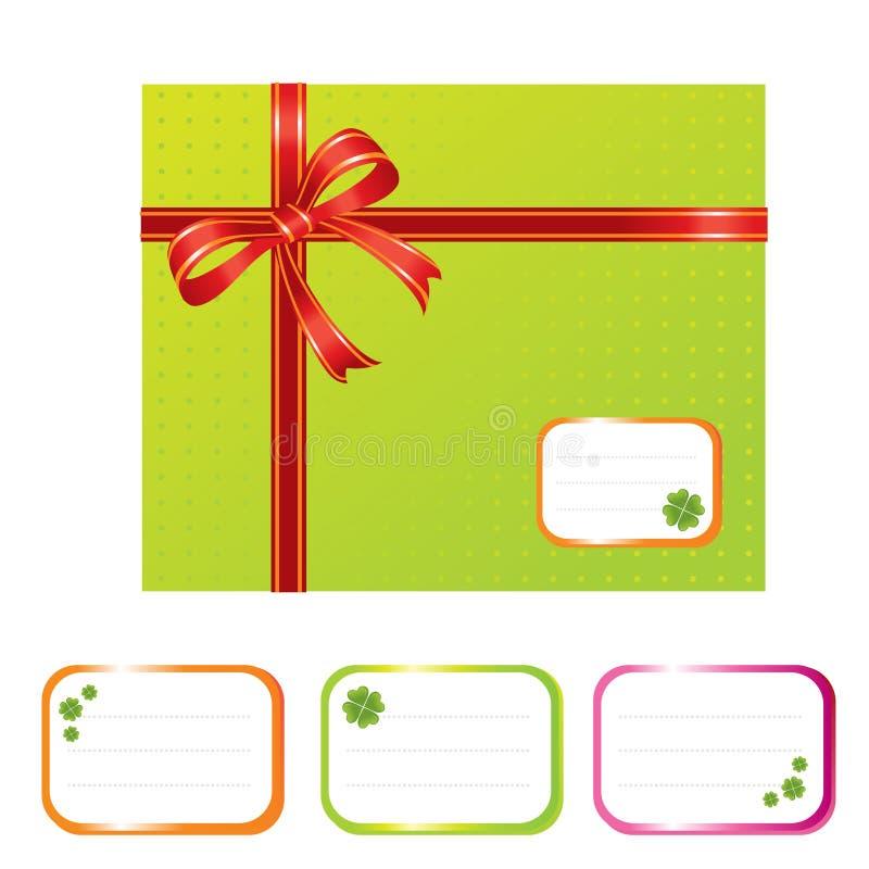 Casella attuale verde illustrazione di stock