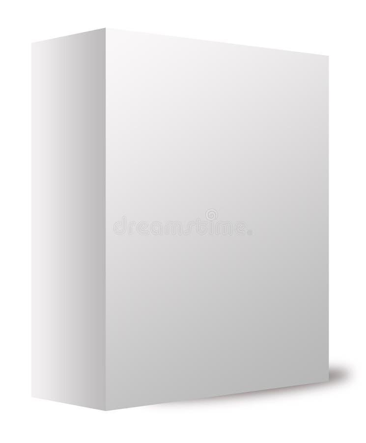Casella bianca illustrazione di stock