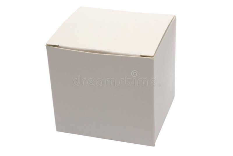 Casella bianca chiusa immagine stock