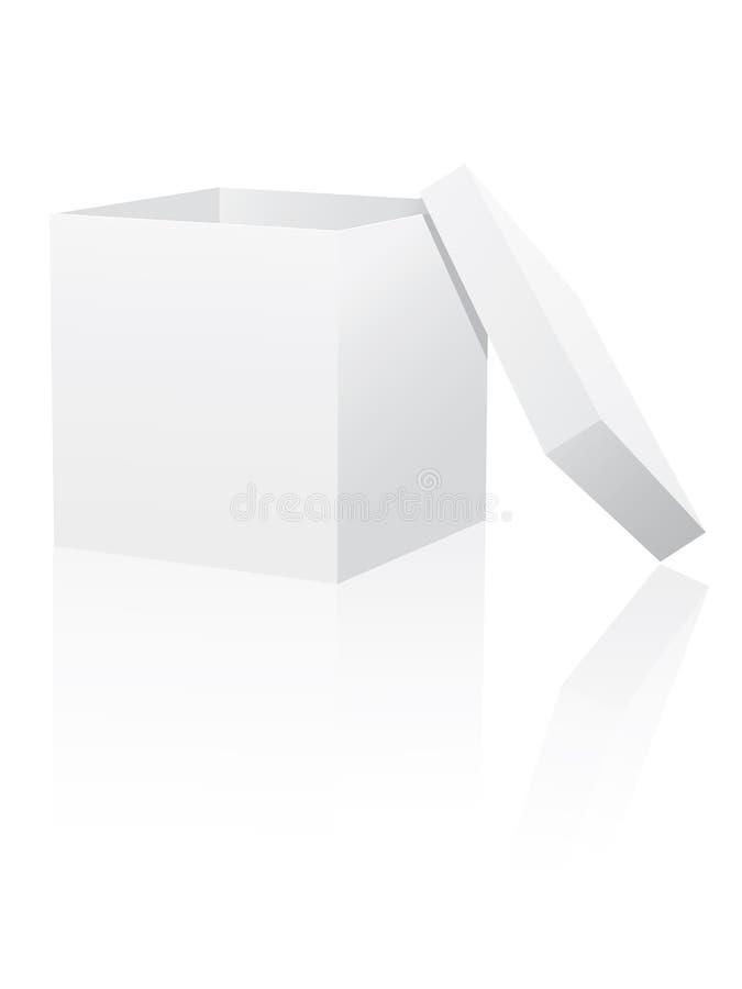 Casella bianca con il coperchio illustrazione vettoriale
