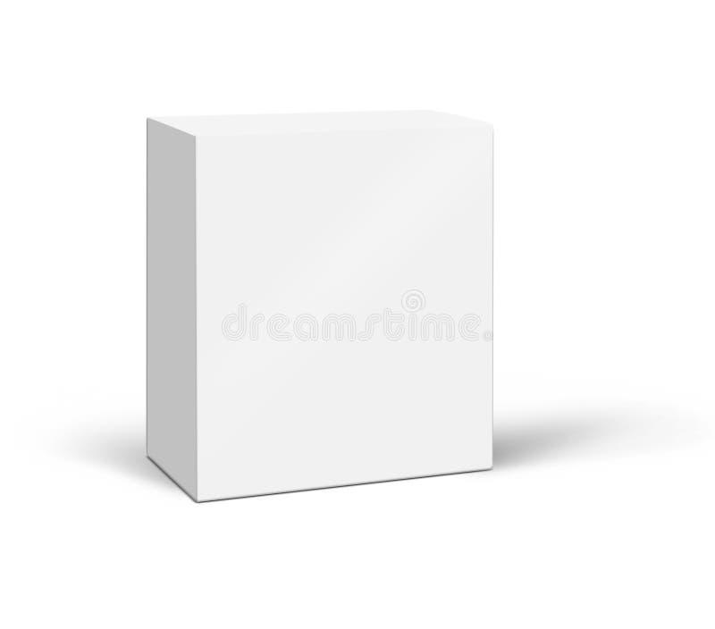 Casella bianca isolata su priorità bassa immagine stock libera da diritti