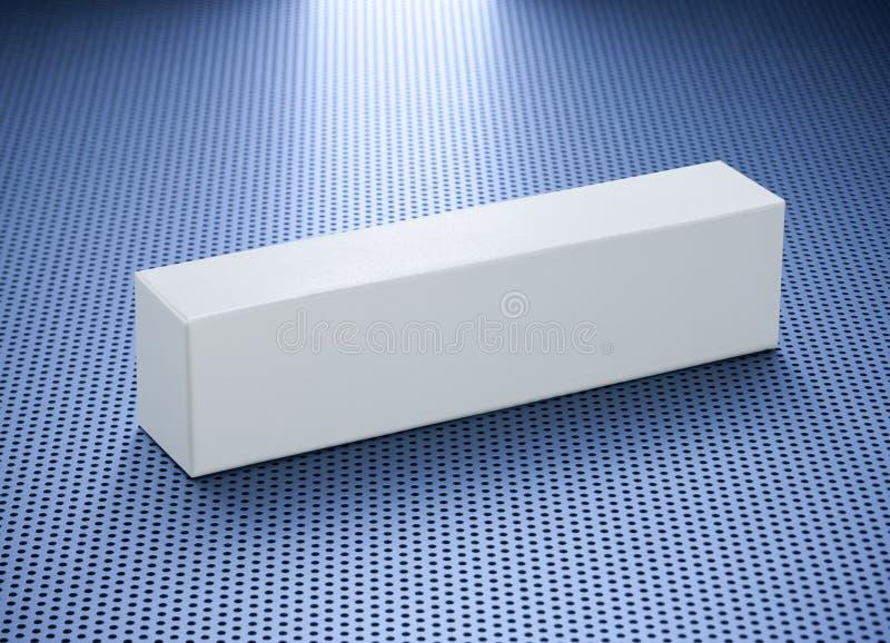 Casella in bianco del prodotto del dentifricio in pasta fotografia stock libera da diritti