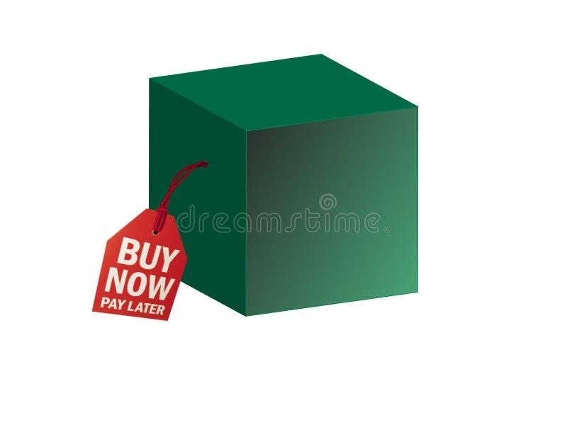 Casella - buy ora illustrazione vettoriale