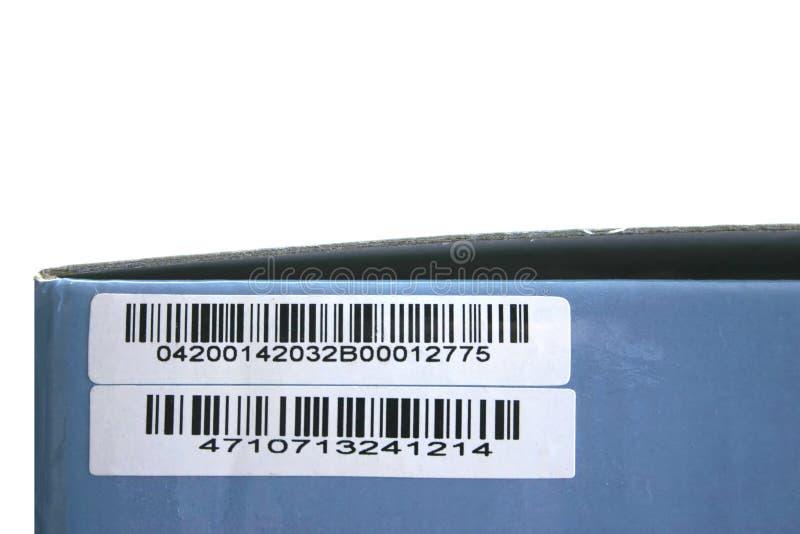 Casella con il codice a barre immagine stock