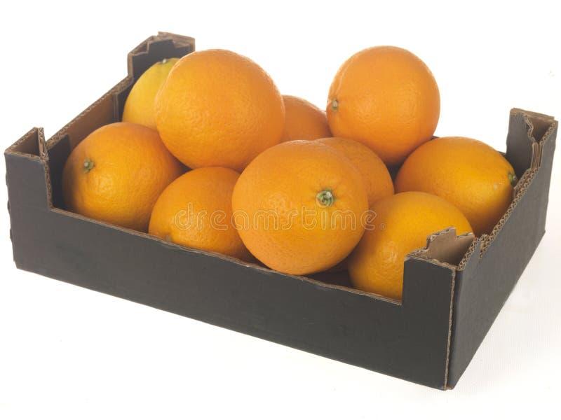 Casella degli aranci immagini stock