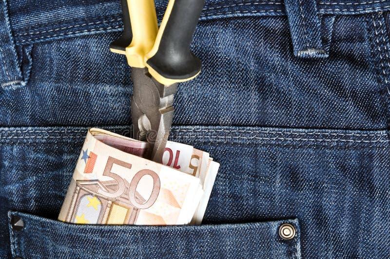 Casella dei jeans fotografia stock libera da diritti