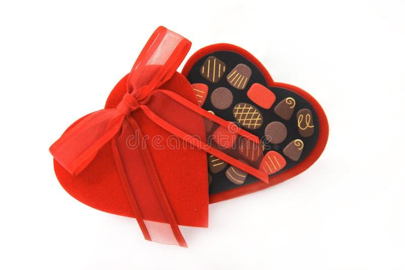 Casella del cuore della caramella di giorno del biglietto di S. Valentino immagine stock