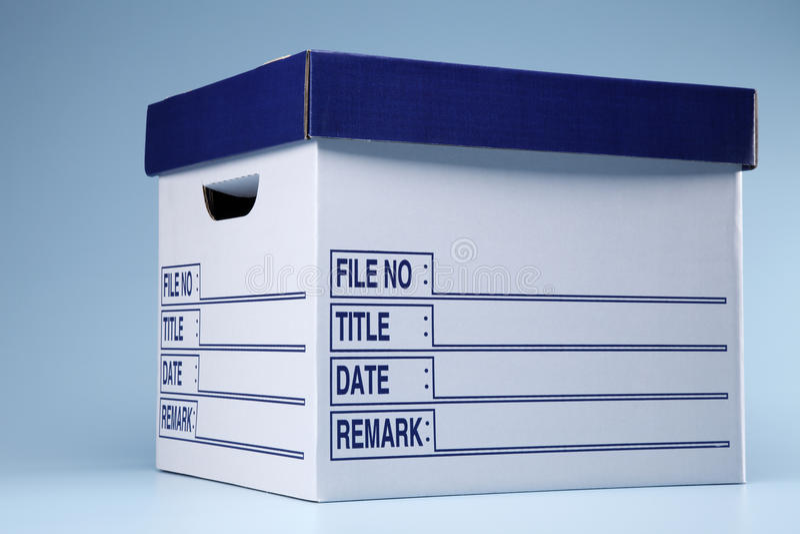 Casella del documento immagini stock