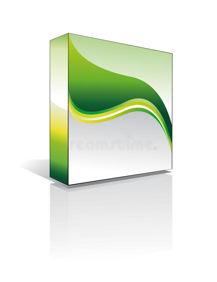 casella del software 3D royalty illustrazione gratis