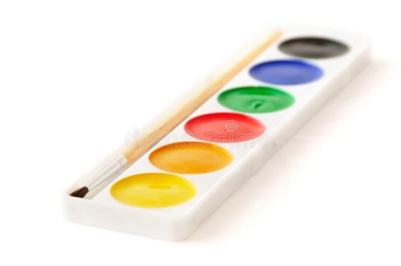 Casella del Water-colour immagine stock