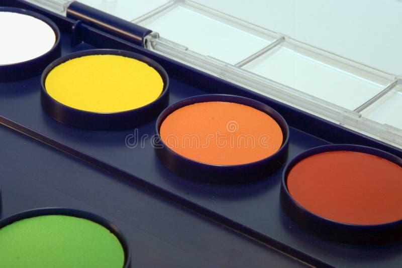 Casella del Water-colour fotografia stock