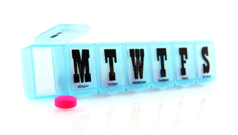 Casella della pillola fotografia stock libera da diritti