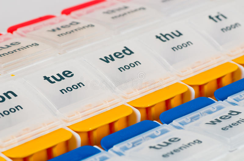 Casella della pillola immagini stock libere da diritti