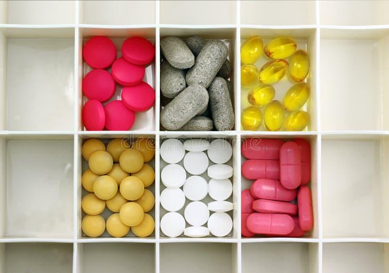Casella della pillola fotografia stock