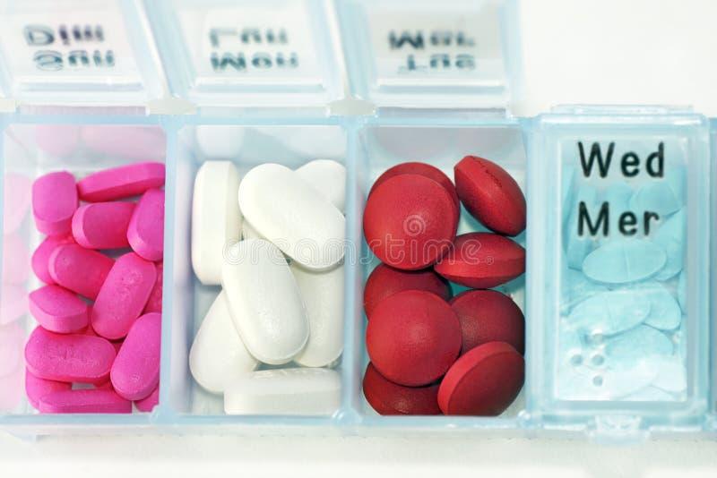 Casella della pillola orizzontale immagini stock