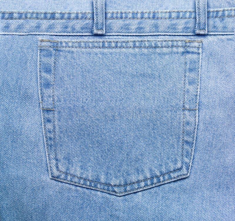 Casella delle blue jeans fotografia stock libera da diritti