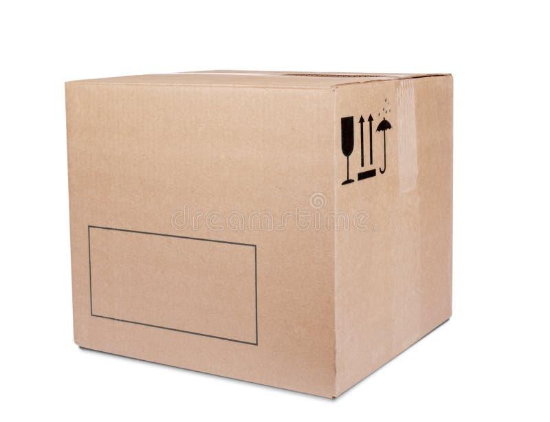 Casella di Carboard fotografia stock libera da diritti