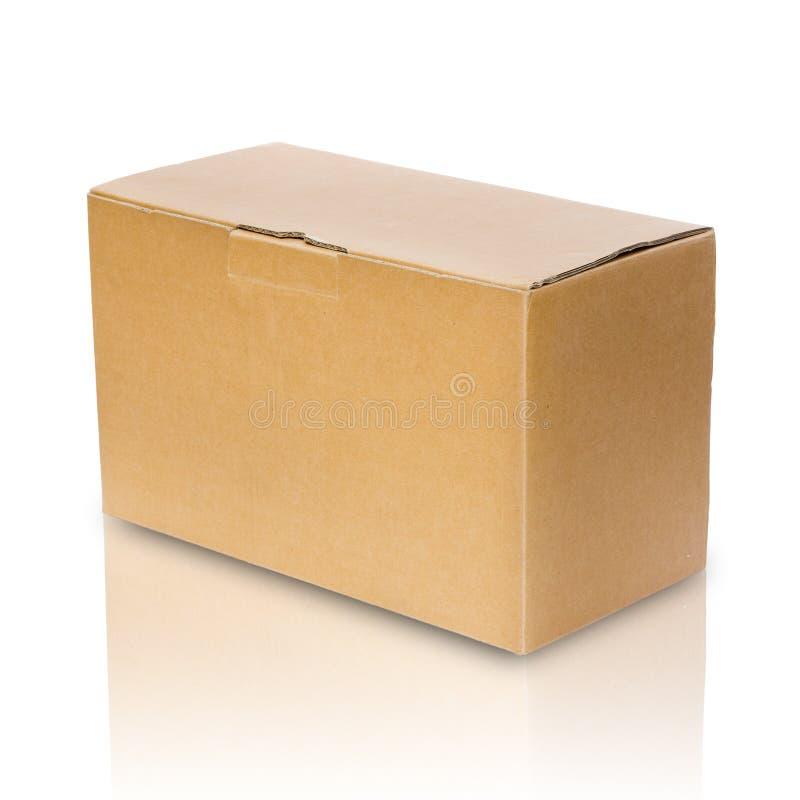 Casella di carta marrone vicina immagini stock libere da diritti