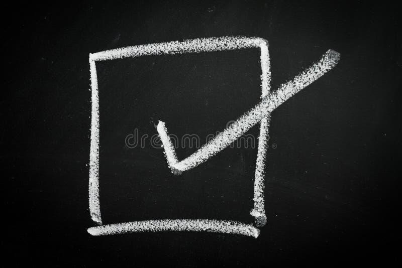 Casella di controllo fotografie stock libere da diritti