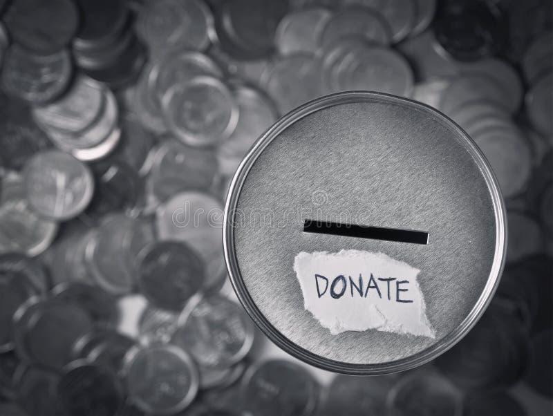 Casella di donazione immagini stock
