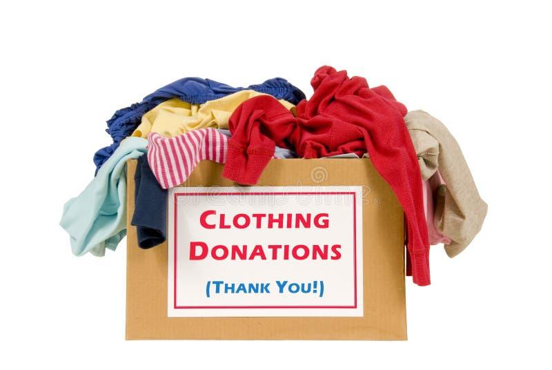 Casella di donazione dei vestiti fotografia stock libera da diritti