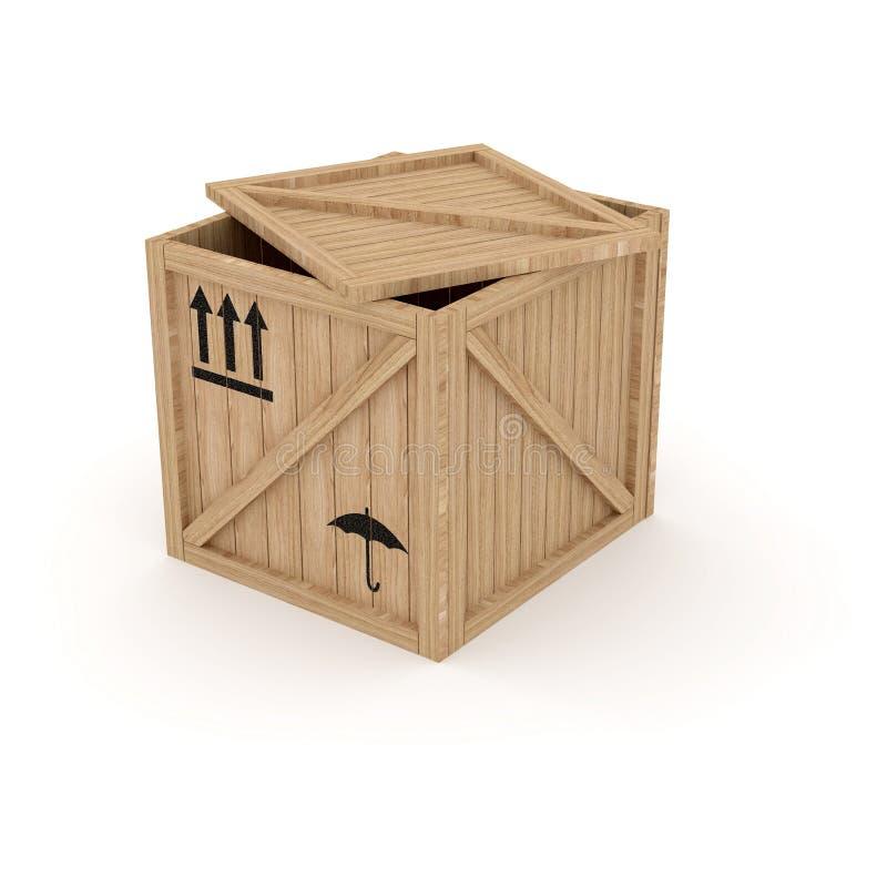 Casella di legno illustrazione vettoriale